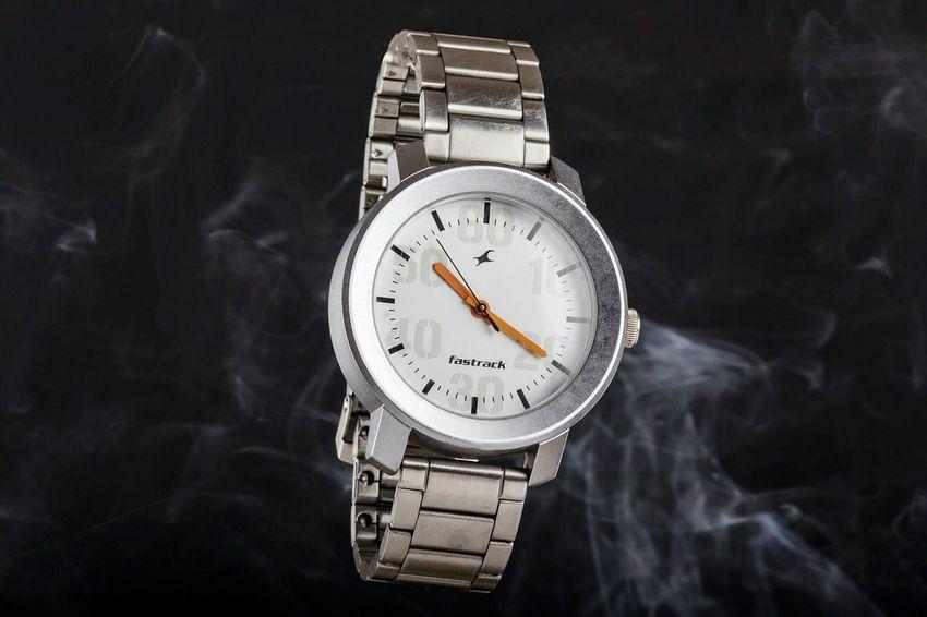 Watch with smoke