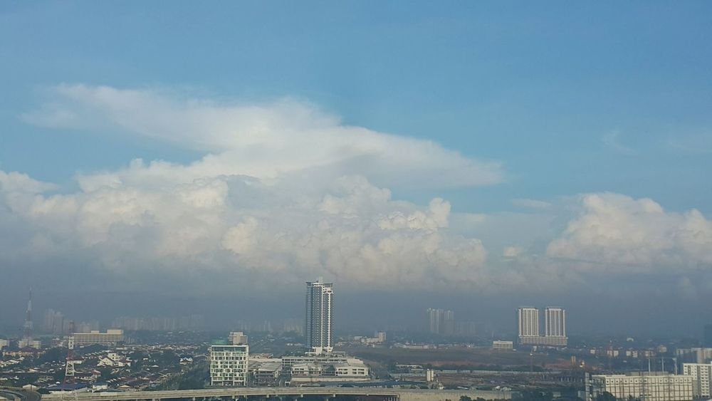Clouds & foggy morning City Urban Skyline Cityscape Cloud - Sky Skyscraper Architecture Sky Downtown District Business Finance And Industry No People Travel Destinations Outdoors Building Exterior Day Johor Bahru Johor, Malaysia City Life Architecture Cityscape Modern Fog