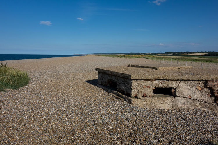 WWII Pillbox, Cley-next-the -Sea, North Norfolk. Beauty In Nature Blue Calm Cloud Cloud - Sky Coastline Day Horizon Over Water Idyllic Nature Non-urban Scene Norfolk Uk Outdoors PILLBOX Remote Scenics Sea Shore Sky Tranquil Scene Tranquility Water WWII