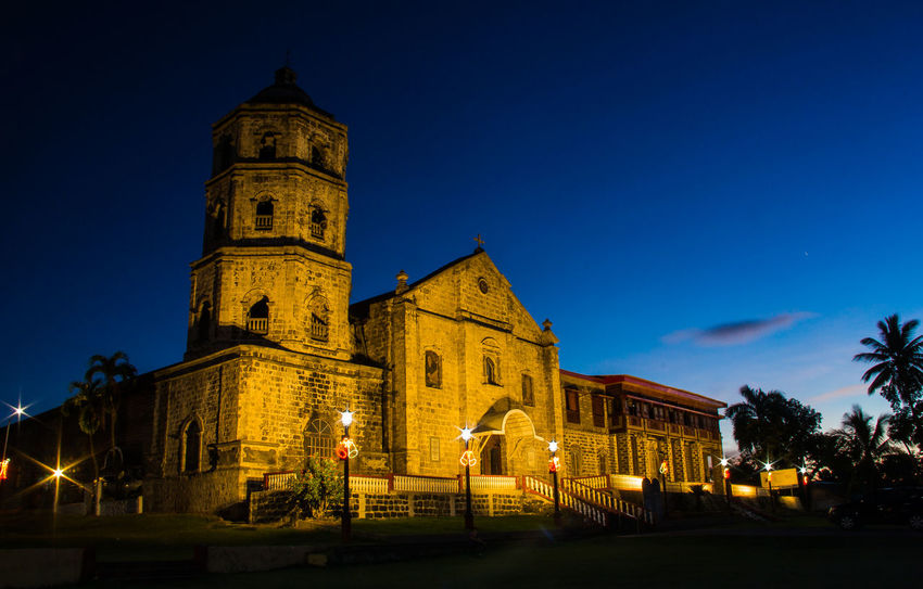 Building Exterior Architecture Built Structure Illuminated Building Sky Place Of Worship Night Religion Spirituality Magdalena Church Low Angle View Dusk