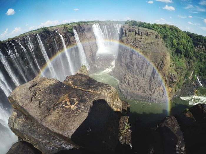 180rainbow Victoriafalls EyeEmNewHere Water Motion Waterfall Long Exposure Splashing Scenics Dam