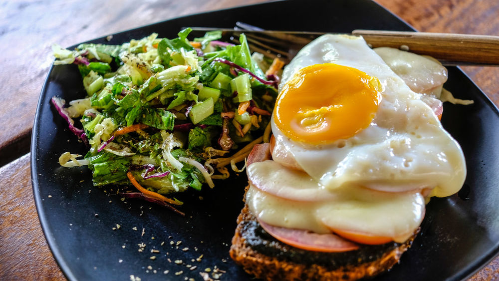 Bread Cheese Day Egg Egg Yolk Enjoying Life Food Fried Egg Healthy Healthy Eating Indoors  Meal Mix Salad Plate Ready-to-eat Salad Sandwich Sunny Side Up Vegetable Yummy EyeEmNewHere EyeEmNewHere