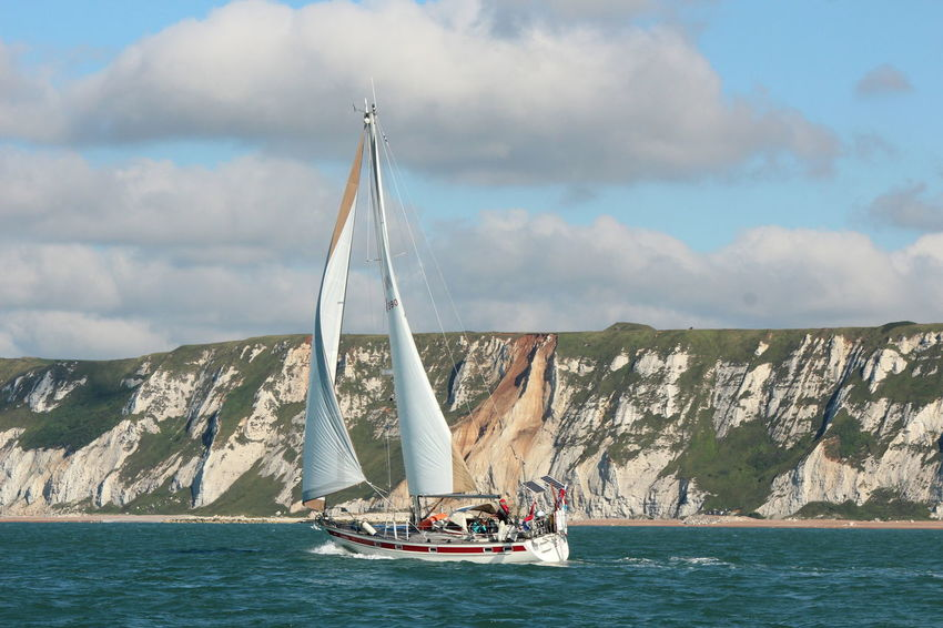 Boat Canvas North Sea Competition Journey Mast Mode Of Transport Mountain Nature Nautical Vessel Outdoors Sail Sailboat Sailing Sailing Boat Scenics Sea Sky South England Tourism Tranquil Scene Transportation Travel Water Waterfront
