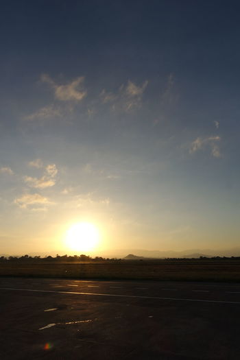 Sunset Nature Scenics Silhouette Sky Beauty In Nature Outdoors No People Horizontal Day Sunrise Runway Finding New Frontiers