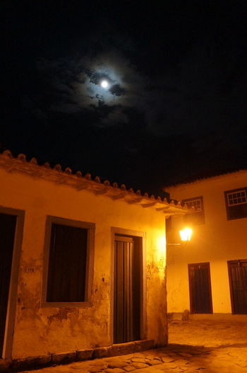 Night Illuminated Moon Architecture No People Vacations Brasil ♥ Paraty - RJ City Travel Destinations Architecture