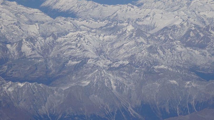 Full frame shot of snowcapped mountains