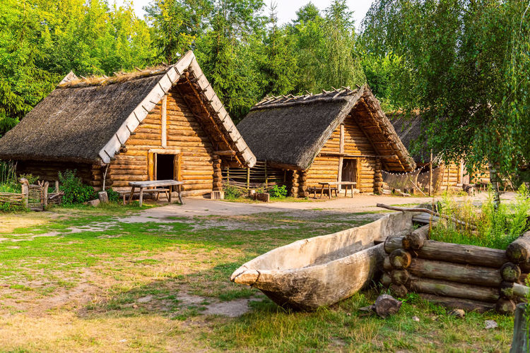 Old wooden houses. slavic culture