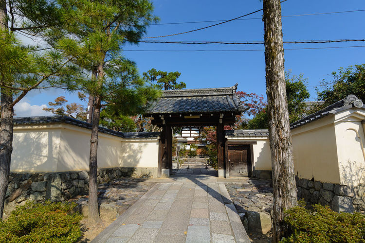 Temple Entrance Architecture Building Exterior Built Structure Cable Clear Sky Day Growth Nature No People Outdoors Plant Sky Tree