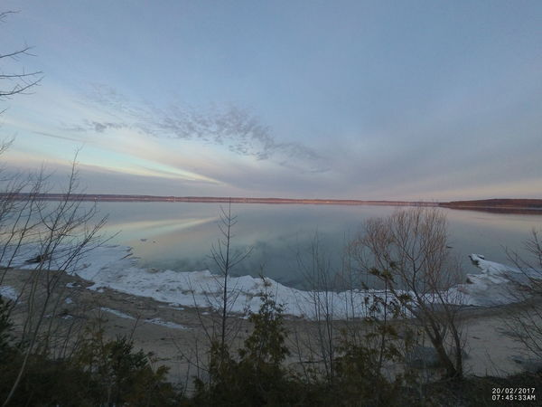 Bare Tree Beach Photography Beauty In Nature Cloud - Sky Clouds And Sky Cloudscapes Day Frozen Lake Ice Nature No People Outdoors Reflections In The Water Reflections Lake Scenics Sky Sunset_collection Tranquil Scene Tranquility Tree Water