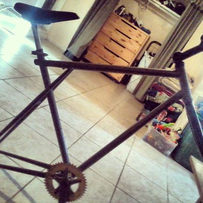 Got me a new project! Stayfixed Justbikesandshit Fixedgearconversions Thefixedlife gt steel steelframes runningoutofhashtags fixedgear fun lol notreally yolo