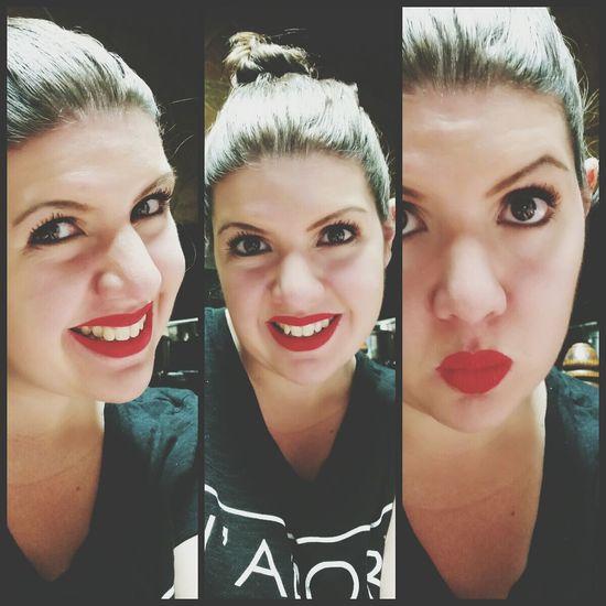 "Loving my new NYX soft matte lip cream ""Amsterdam""! Nyxcosmetics Red Lips"