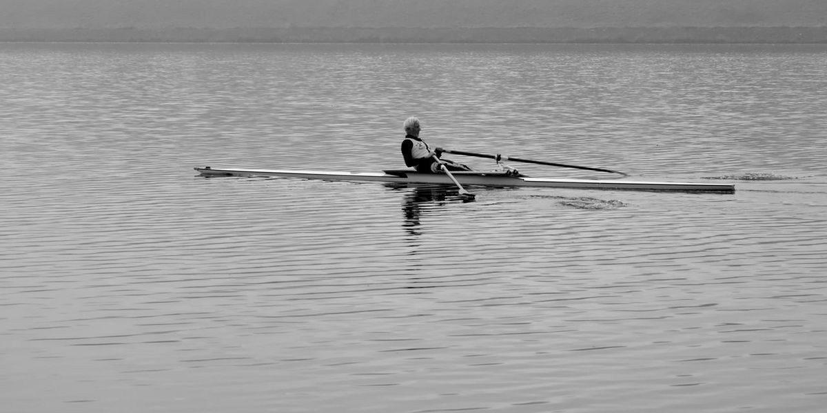 B&w Blackandwhite Hobbies Outdoors River Rower Rowing Boat Single Scull Unrecognizable Person