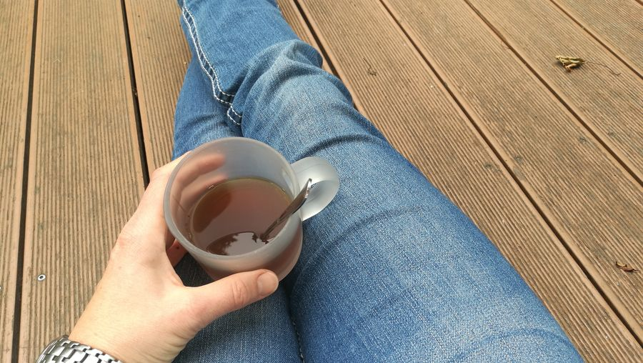 Human Hand Drink Tea - Hot Drink Nail Polish Low Section Holding Coffee - Drink High Angle View Coffee Cup Personal Perspective Black Tea Tea Tea Cup Hot Drink Afternoon Tea Autumn Mood 50 Ways Of Seeing: Gratitude A New Perspective On Life Moments Of Happiness