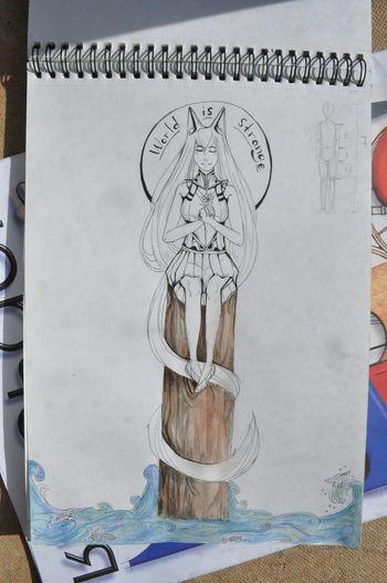 Art Drawing Sallon Sidzuka Cat World Is Strange ArtWork Picture Art Gallery EyeEm Gallery Love Drawing ❤