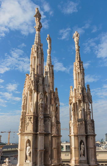 Low Angle View Of Milan Cathedral Against Sky