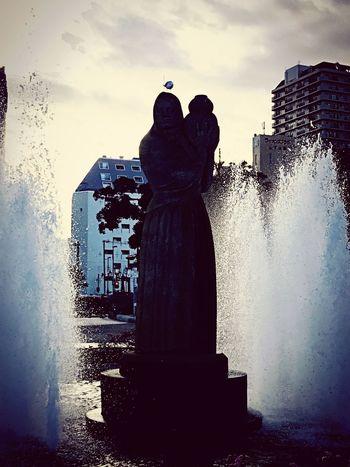 Japan Photography Japan Yamashita Kouen Park Statue Fountain Water Art And Craft Sculpture Spraying Splashing No People EyeEmNewHere