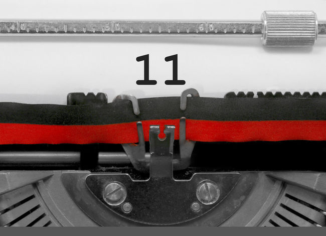 11 Number by the old typewriter 11 BIG Eleven NR Numbers Only Retro Text Type Writer Writing Backgrounds Binary Binary Code Number Numbers Numeral Numerals Numeric Page Single Typewriter Typewriting Typing Vintage Written