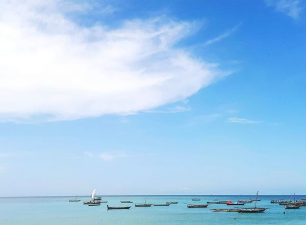 Beach Sea Blue Sky Nautical Vessel Summer Travel Destinations Vacations Beauty In Nature Red