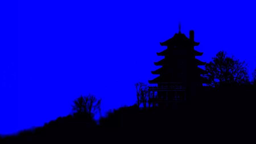Silhouette Blue Night Religion Built Structure Outdoors Place Of Worship Tree Ancient Architecture No People Sky Illuminated Nature EyeEm Vision Woytovich EyeEm Selects Eyeem Vision Best Eyeem Edit Best Eyeem Shot Pagoda Reading, PA. The Week On EyeEm