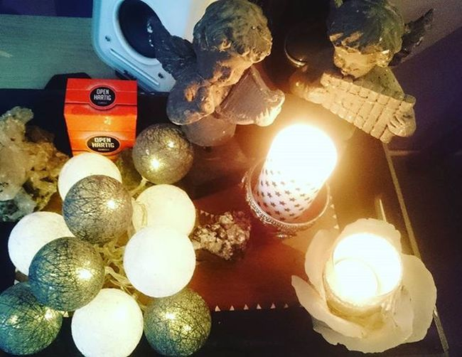 Friday evening.. Candles Angel Autumn Greywhite