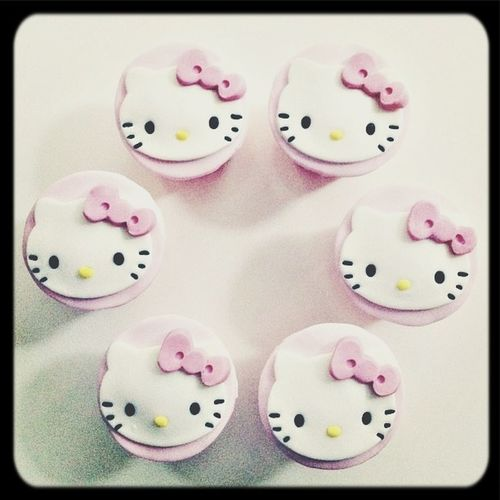 Cupcakes Hello Kitty.
