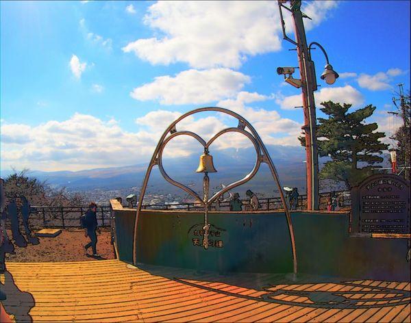 Outdoors Sky Travel Destinations Scenics Mountain Landscape Kawakuchi Kawaguchiko Cloud - Sky Beauty In Nature Japan Heart Shape Heart ❤ Sign Art Is Everywhere The Great Outdoors - 2017 EyeEm Awards