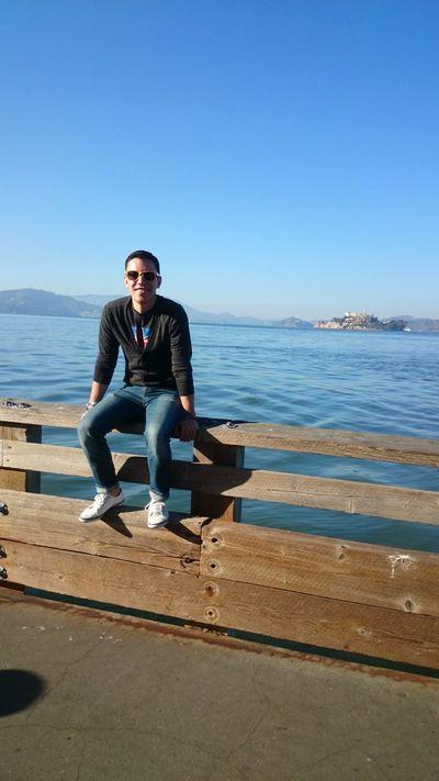 Little tourist picture of me Alcatraz View California San Francisco