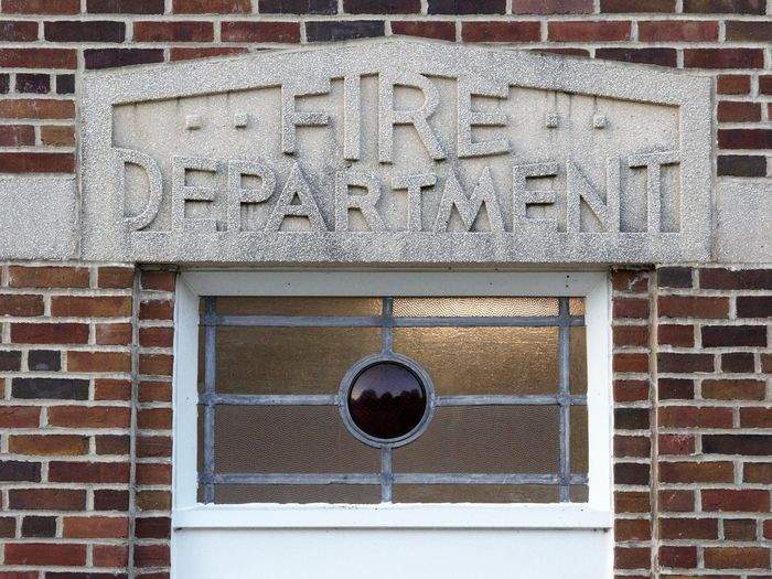 Fire Station Architecture Brick Wall Building Exterior Built Structure Fire Department Message No People Sign Text Western Script