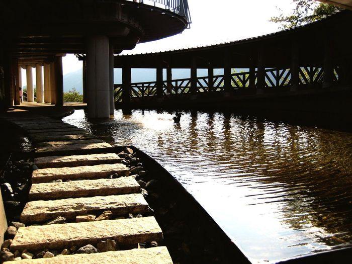 獅子吼高原 石川県 獅子吼高原 白山 Architecture Built Structure Water Nature Bridge Sunlight Shadow