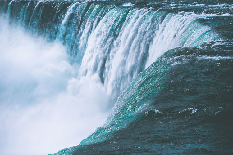 Scenic view of niagara waterfall