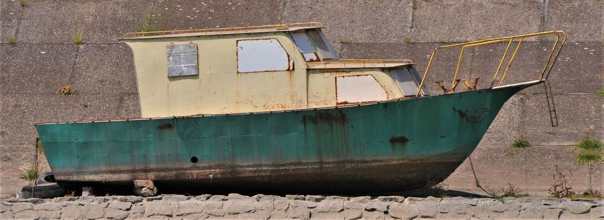 Serbia Sunlight Boat Concrete Day Nautical Vessel No People Old On Land