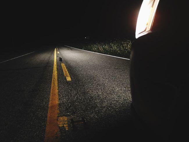 The Road Not Taken Dark Road Car Light Plant