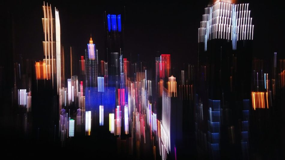 Night Arts Culture And Entertainment Multi Colored Illuminated No People Outdoors City Building