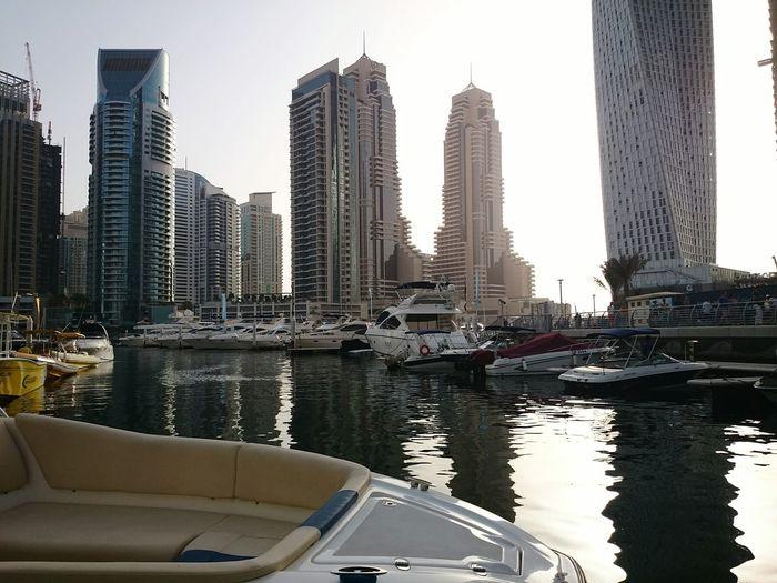 Yacht Port Sunset Dubaimarina Waterreflections  Beautifulbuildings Jumeirah Marina Yachtlife Yachts