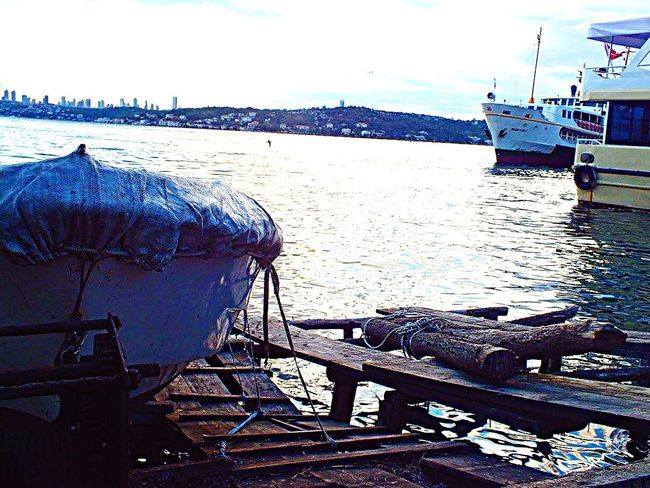 Nautical Vessel Mode Of Transport Transportation Moored Sea Harbor Boat Travel Destinations No People Nature Sky Istanbul Eye4photography  Photooftheday Fujifilm EyeEm Gallery Kadrajımdanyansıyanlar Trawler City Photography 🌊🛥