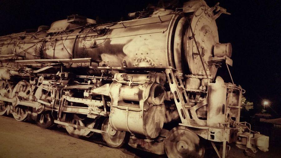 Santa Fe No. 2921 Locomotive Locomotive Engine Steam Train Vintage Train Amtrack Modesto Trainphotography Train Old Train Trainstation Outdoors Night Metal Industry