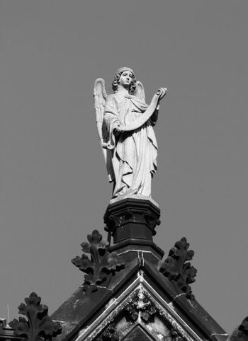 Black & White Church Leipzig Angel Architecture Art And Craft Black And White Blackandwhite Church Architecture Clear Sky Day Female Likeness History Human Representation Low Angle View Male Likeness No People Outdoors Peterskirche Sculpture Sky Statue Tourism Tourist Destination Travel Destinations