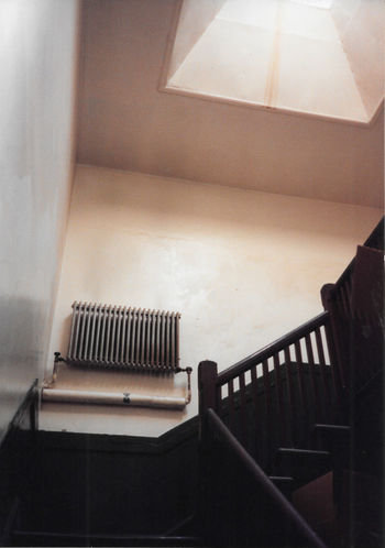 we pass each other on the stairs 35mm Film Analogue Photography Copy Space Absence Architecture Arts Culture And Entertainment Building Built Structure England Film Photography High Angle View Home Interior Indoors  No People Radiator Railing Steps And Staircases Uk Vintage Wall White Window Wood - Material
