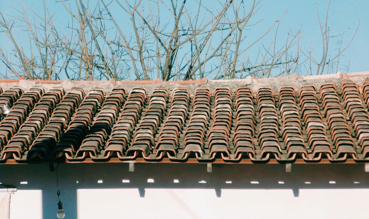 View Of Roof Tiles On House