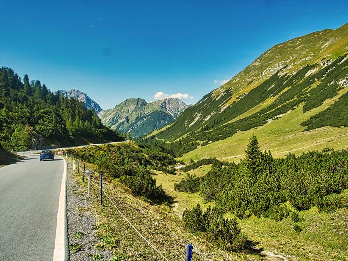 On the hahntennjoch - a paradies for motorcyclist