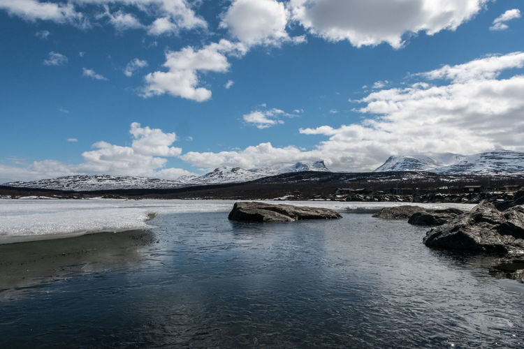 Lapporten from the water 6 Abisko Beauty In Nature Cloud - Sky Cold Temperature Day Iceberg Lake Landscape Lapporten Mountain Nature No People Outdoors Scenics Sky Sweden Tranquil Scene Tranquility Water Waterfront