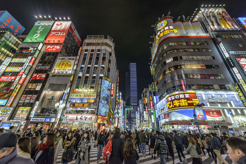 Kabuki-cho Architecture Building Exterior City City Life City Street Cityscape Crowd Downtown District Illuminated Kabukicho Large Group Of People Modern Multi Colored Neon Night Outdoors People Rush Hour Sky Skyscraper Store Travel Travel Destinations Urban Skyline