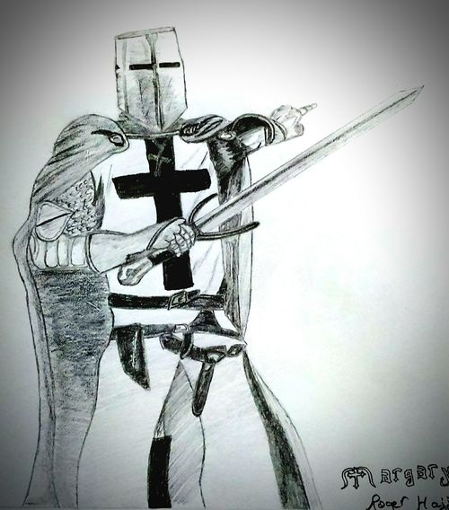 Art Artattack Crusaders Art Attack Drawing Draw By Me Pencil Drawing Knights Templar Good Morning