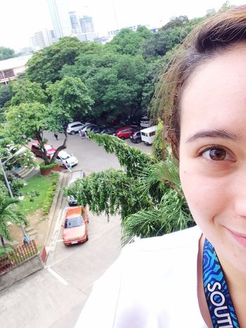 When you're super early for class and climb out the window to appreciate the view while waiting for your awesome teacher 😂 Veterinary Student Early Bird Beautiful Nature Cebu