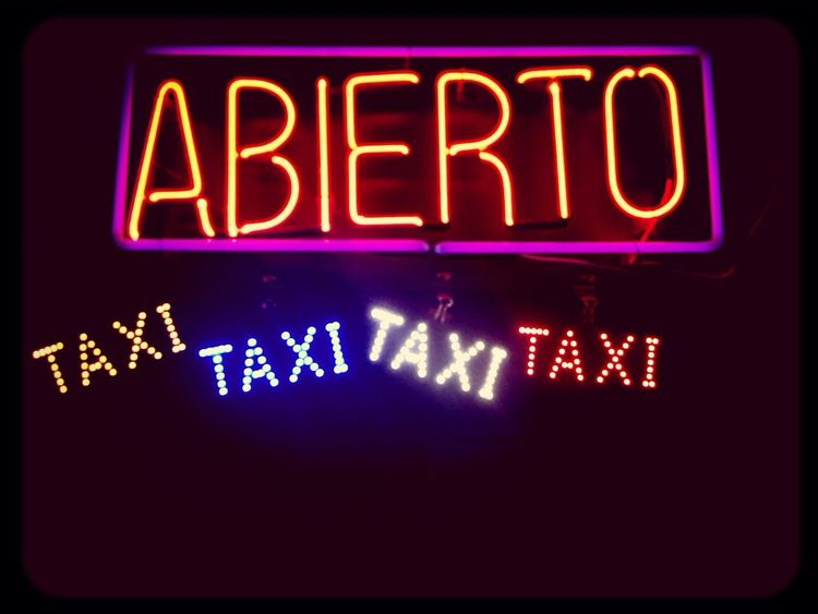 letreros de taxi!!