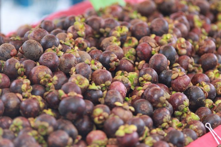 mangosteen Supermarket City Fruit Market Agriculture Retail  Heap Market Stall Healthy Lifestyle Business Finance And Industry