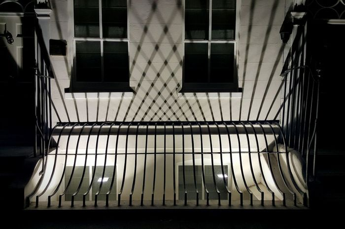 Architecture Built Structure Window No People Bars Shadows & Lights Shadow Mayfair, London Night Photography Night Streetphotography Street Photography