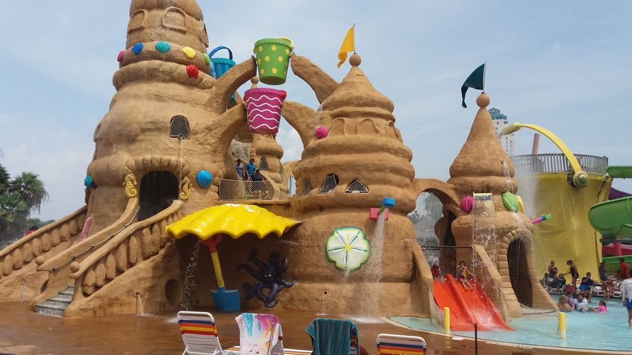 Outdoors Sky Day Low Angle View USA South Padre Island Water Nice Day Schlitterbahn Waterpark Waterparkfun Casttle Watercastle