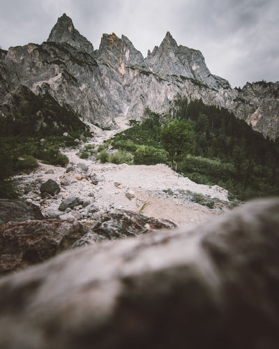 Impressive three Peaks mountain group. Mountain Beauty In Nature Rock Nature Scenics - Nature Rock - Object No People Sky Water Land Non-urban Scene Solid Tranquility Day Tranquil Scene Motion Outdoors Environment Selective Focus Surface Level Flowing Water Flowing My Best Photo