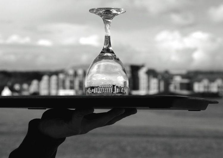 This hotel is a world away! I wanted to show this by putting it in a wine glass.. the wine glass represents class. TheOldCourse Standrews Classy Throughthewineglass Anotherworld Richpeople Golfcourse